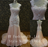 Latest Design Sleeveless Bride Dress New Style Trailing Sexy Lace Wedding Dress