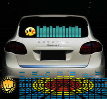 music sound activated el flashing car sticker
