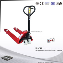 2014 hot SHANYE low profile hand pallet truck truck fork lift truck