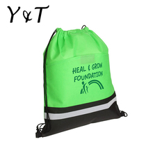 Recycle eco polyester drawstring shoe bag/drawstring cloth backpack bag