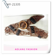 T stage quality women braid belt for blouse decoration lady braided leather belt for dress