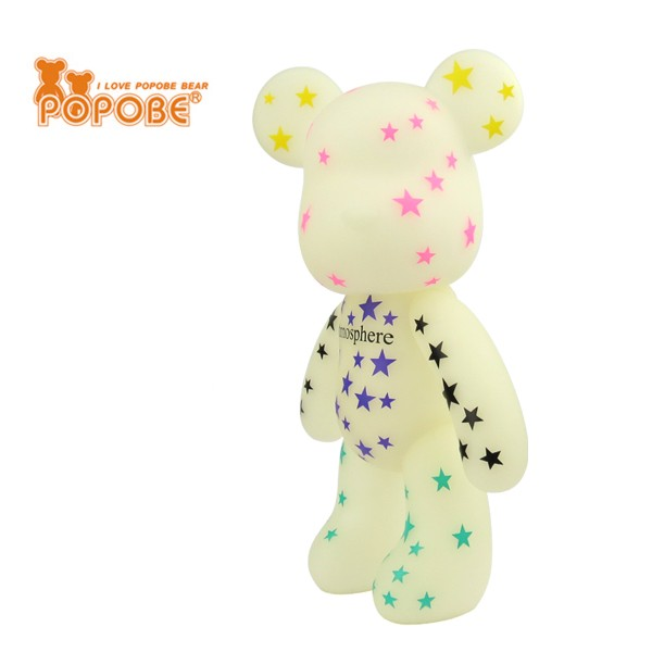 Toy Bear Well Painted Design PVC Decoration Luminous Color Bear Toy Dolls