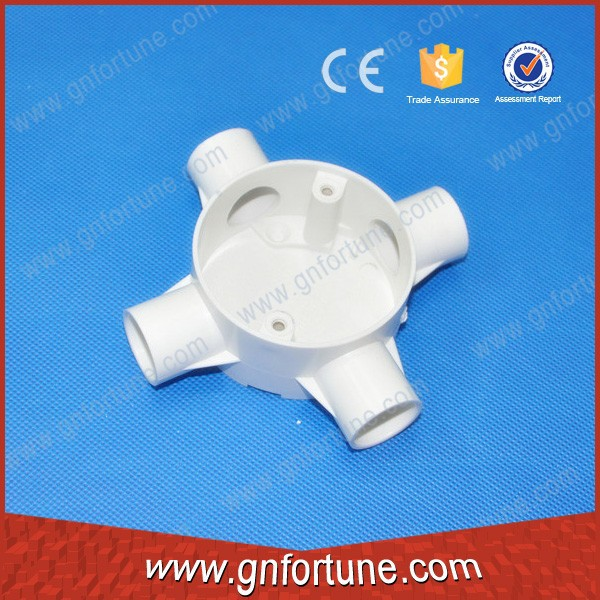 Factory PVC Electrical Conduits Fitting/ Four Way Box
