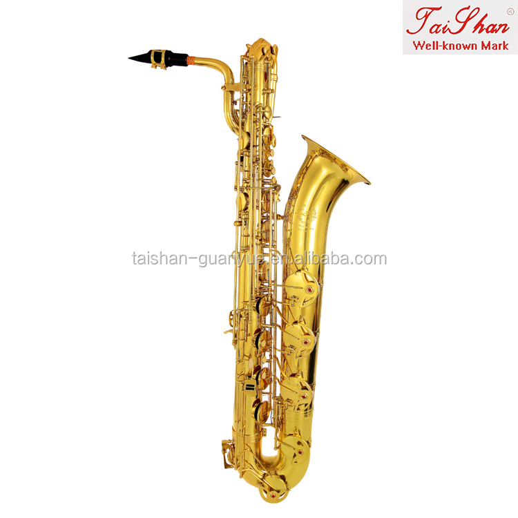 Musical instrument TSBS-680 professional gold lacquer baritone saxophone