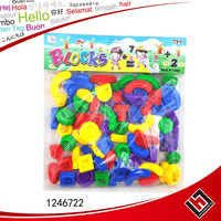 Colorful plastic pipe toy connecting building blocks