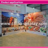 Aluminum Frame Exhibition Booth Trade Show Backdrop Velcro Pop Up Straight Display