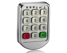 Zinc Alloy Electronic Password Keypad Digital Steel Cabinet Lock