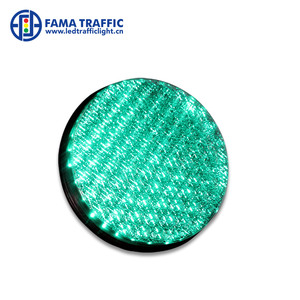 120mm Green LED Traffic Signal Module with Cobweb Lens