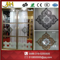 China manufacturer Decorative glass Acid-etched Glass with various design