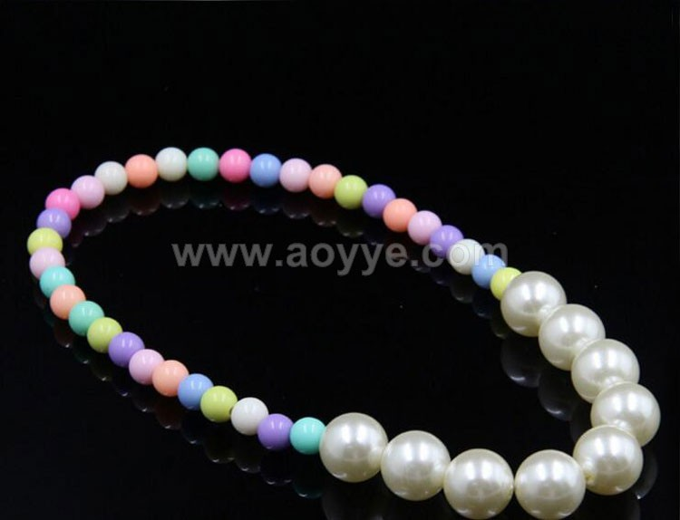 Spring color ABS pearl DIY craft sweater chain children color beads