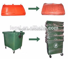 large container pedal garbage bin ,high quality standing bin ,bulk trash can