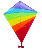 promotional rainbow  diamond kites for advertising