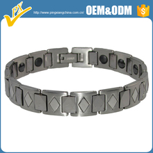 2017New design hot fashion magnetic tungsten bracelet with black plated jewelry