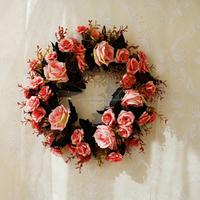 Silk flower home living room restaurant floral decoration wreath