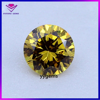 Synthetic Light Yellow Polished Round Brilliant Cut 1.75mm CZ