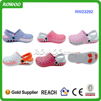 Breathable comfortable double color garden shoes unisex eva clogs