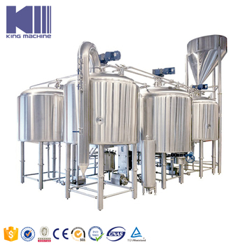 Complete commercial beer production machinery line made in China for sale