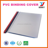 A4 clear plastic pvc glitter book cover for stationery packing