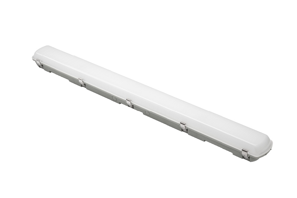 airport car parking ip65 waterproof motion sensor waterproof linear lamp metro/train ceiling mounted tri-proof led batten light