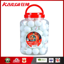 Kansa-0971 1 star Celluloid White Color Good Quality Ping Pong Ball With Logo Printing