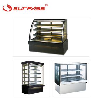 Marble-base cake showcase pastry refrigerator curved glass display