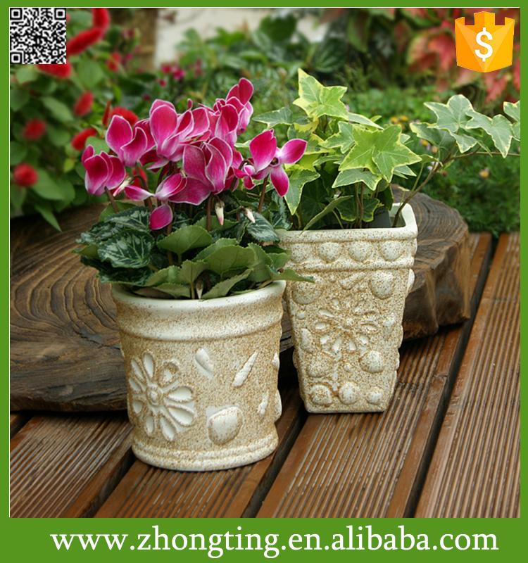 Modern Decorative Folded Design cheap Small Ceramic red transparent flower pot