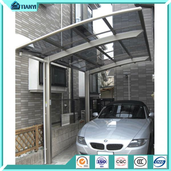 single slope double metal steel frame parts portable price modern design aluminum carport