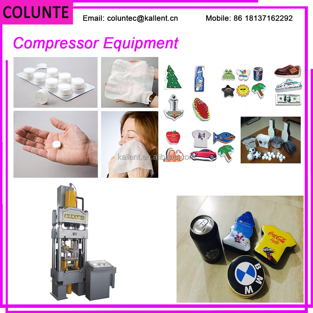 Colunte T-shirt /Towel /Tissue Compression Machine, compressed T-shirt machine ( CE CERTIFICATE )