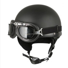 Open Face Bike Scooter Motorcycle Harley Half Helmet With Goggles Glasses
