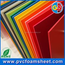 colored 12mm thickness PVC foam board/sheet/panel for cabinet furniture manufacturer in china