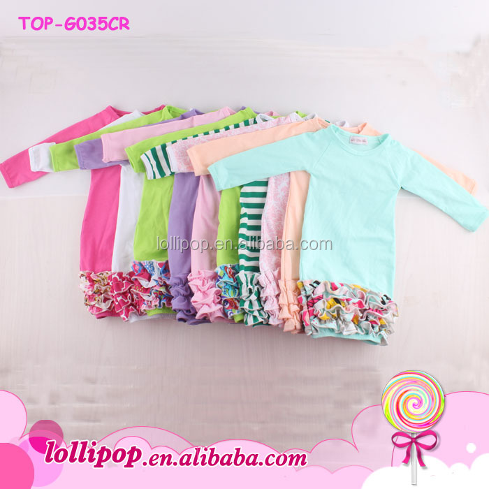 Newest Infant Monogram Blank Sleep Gowns Baby Long Sleeve Icing ...