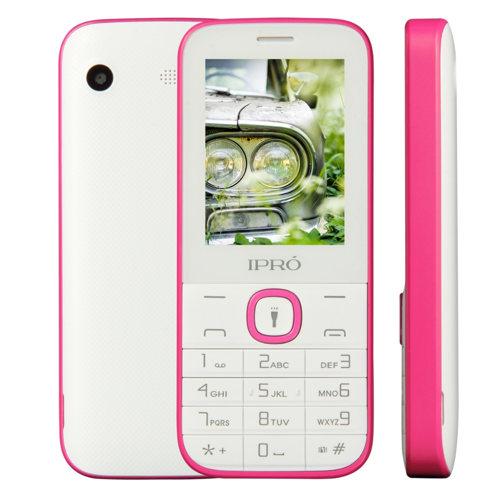 Factory direct supply IPRO I324F 2.4 inch feature phones 2g cheap cell phone unlocked 1000 mAh Torch for Lationamerica