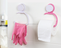 bathroom suction cup towel holder paper roll holder /plastic towel hook with suckers