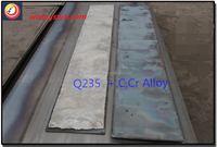 hardened Bi-metal overlay composite high wear/abrasion resisting steel plate used for dumper