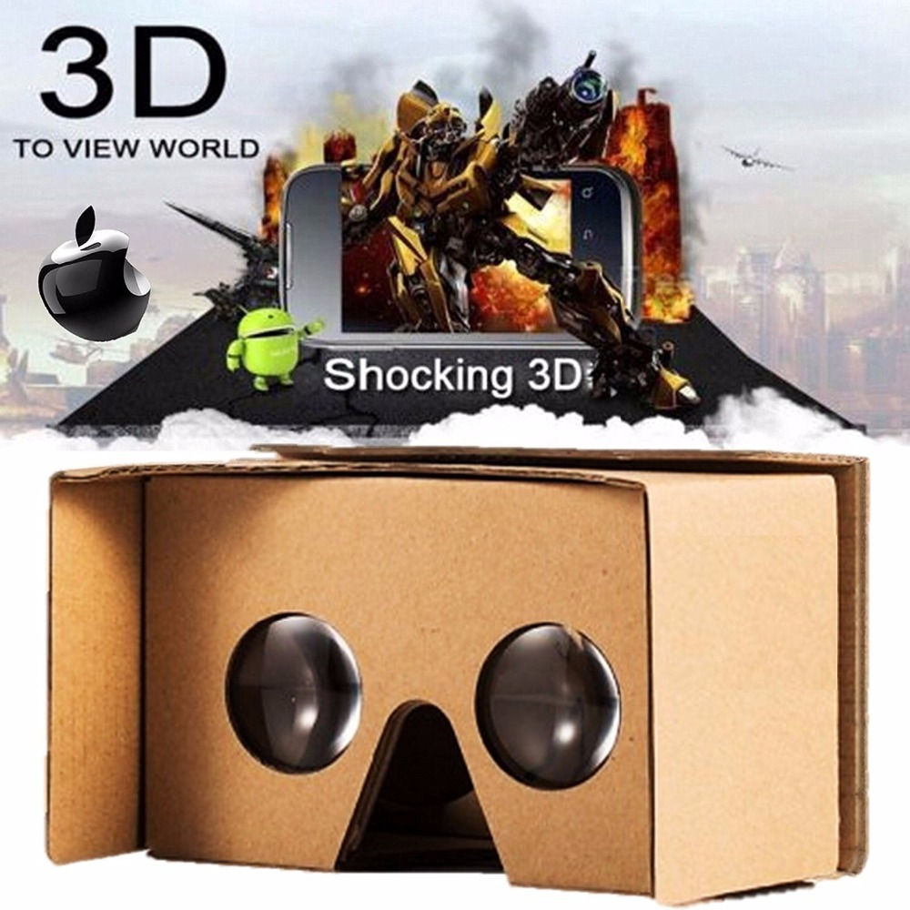 Complete Google Cardboard Kit Version 2.0 Virtual Reality Headset V2 with Head-strap Video Instructions and VR cardboard