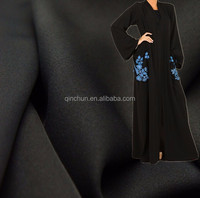Fursan korean black dubai abaya fabric for abaya