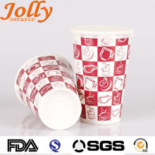 custom printed paper coffee cups/hot drinking disposable paper cup
