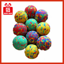Small plastic toys solid rubber bouncing balls 60mm eva ball toy gun