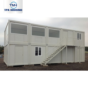 2 Two Story 20 Foot Shopping Container Houses Ready Made 2 Bedroom Container House