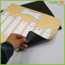 China manufacture Schedule Fridge Magnet magnetic board