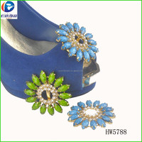Crystal Flower Wedding Shoe Clip Decorations