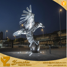 Large Size Stainless Steel Animal Sculpture Eagle for Outdoor Decoration