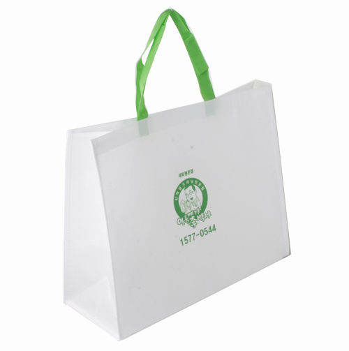 fashion green non-woven shopping handbag