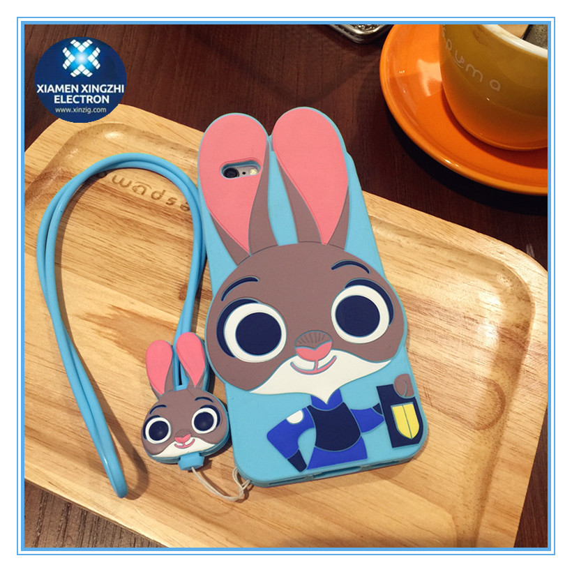 New design 3D silicone cute mobile phone case/iphone6/6s