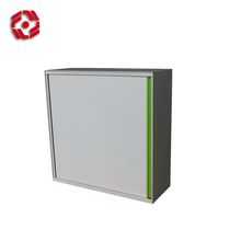Commercial Unassembled Office Furniture Up Glass Door Stainless Steel Master white steel cabinet