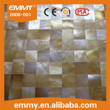 Super quality Luxury gold colors natural sea shell tiles mosaic