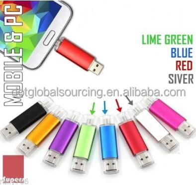 Stick Figure 8GB OTG Micro USB 2.0 Memory Stick Flash Drives For Tablet Smartphone