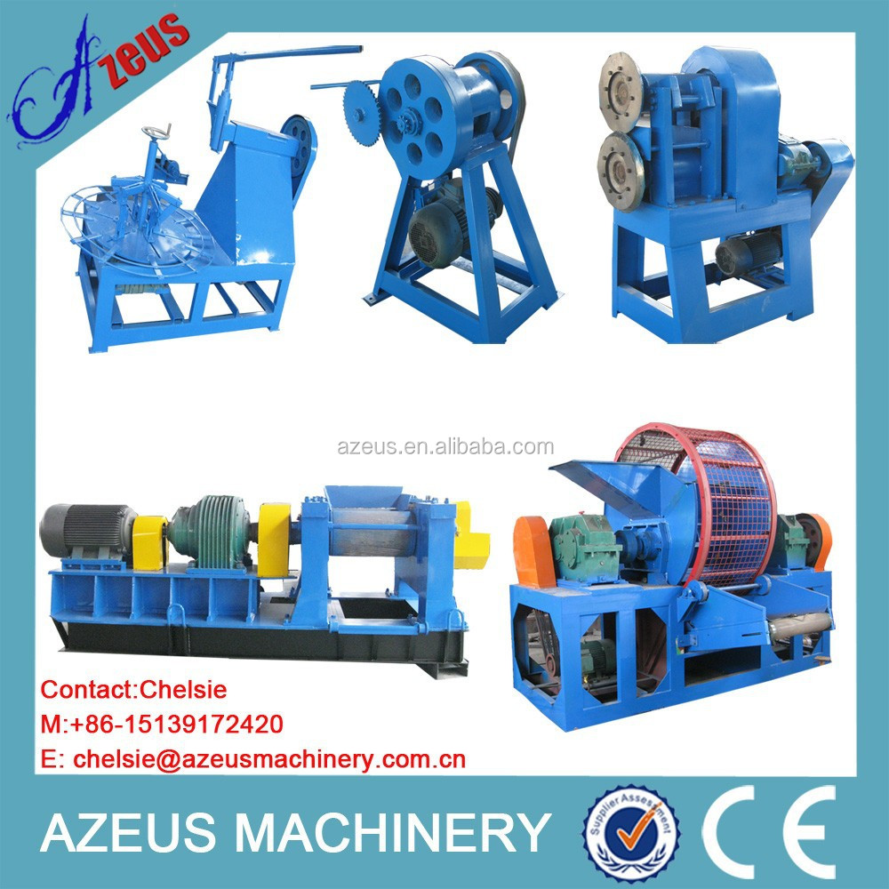 Profession manufacturer rubber tire recycling equipment