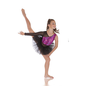 Girls Modern Dancewear Blue Kids Jazz Dance Costume Top Short