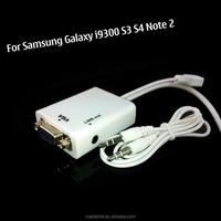 New Micro USB MHL to VGA Cable adapter for Samsung Mobile Phone MHL Cable